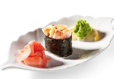 Shrimps Gunkan Royalty Free Stock Image