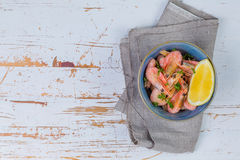 Free Shrimps In Blue Bowl Royalty Free Stock Photography - 84229467