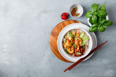 Free Shrimps In Curry Sauce And Rice Stock Photo - 75530620