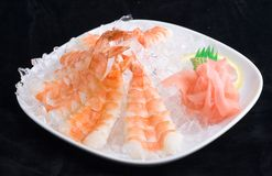 Shrimps In Ice Royalty Free Stock Image