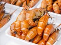 Shrimps on the market Stock Photos