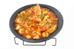 Shrimps Meal Stock Images