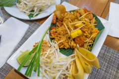 Shrimps Pad Thai Stock Images