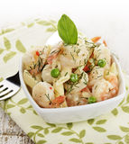 Shrimps And Pasta Royalty Free Stock Photo