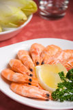 Shrimps plate Royalty Free Stock Image