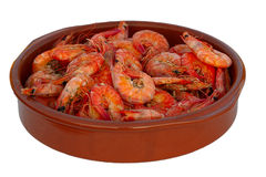 Shrimps on the plate Royalty Free Stock Photo