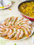 Shrimps on a plate Royalty Free Stock Photo