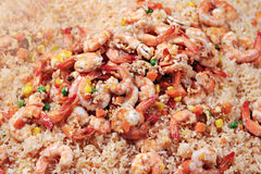 Shrimps with rice Royalty Free Stock Photography
