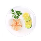 Shrimps with rice noodles. Royalty Free Stock Images