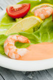 Shrimps salad Stock Photos