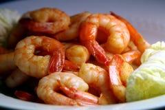 Shrimps salad Royalty Free Stock Image