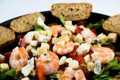 Shrimps salad stock photo