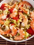 Shrimps salad Stock Images