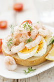 Shrimps sandwich Royalty Free Stock Images