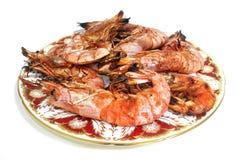 Shrimps seafood - traditional mediterranean food Stock Image