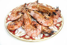 Shrimps seafood - traditional mediterranean food Stock Images