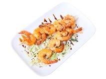 Shrimps shashlik Royalty Free Stock Image