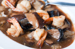 Shrimps with shiitake mushrooms