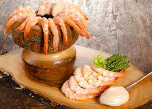 Shrimps snack Royalty Free Stock Images