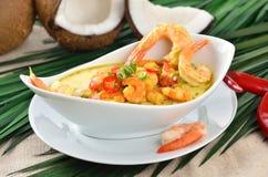 Shrimps soup Stock Photography