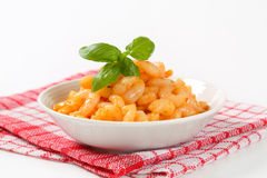 Shrimps with spicy sauce Stock Photos