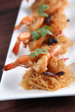 Shrimps Steamed With Vermicelli Stock Photo