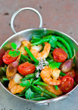 Shrimps stir fry Royalty Free Stock Photo