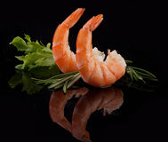 Shrimps tails Stock Photos