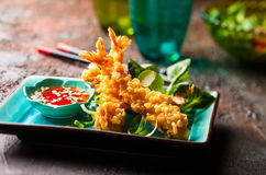 Shrimps tempura Stock Images