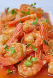 Shrimps in tomato sauce Stock Image