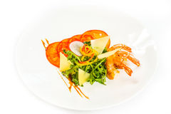 Shrimps with vegetables Royalty Free Stock Photo