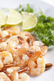 Shrimps With Lime Stock Photography