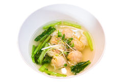 Shrimps Wonton Soup Royalty Free Stock Image