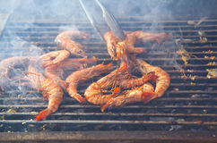 Shrims barbecue Stock Photography