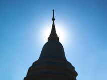 Shrine. Shadow of shrine with sun on blue sky Royalty Free Stock Photo