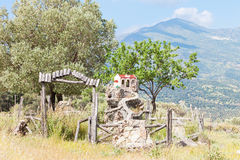 Shrine of Agia Galini Stock Photo
