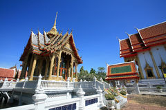 : shrine architecture landscape against blue sky Stock Image