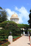 The Shrine of the Bab, Bahai Gardens, Haifa Stock Photo