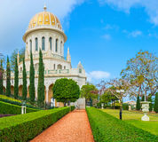 The Shrine of the Bab. The Bahai Shrine is one of the most famous buildings and locations in Haifa, Israel Stock Image