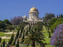 Shrine of the Bab in Haifa. Bahai Gardens. Shrine of the Bab in Haifa Royalty Free Stock Photo