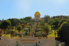 Shrine of Bab and its Gardens in Haifa Israel Royalty Free Stock Photos