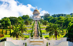 Shrine of the Bab and lower terraces at the Bahai World Center in Haifa. Israel Stock Image