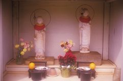Shrine at Buddhist Cemetery in Maui Hawaii Royalty Free Stock Photos