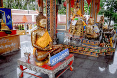 Shrine in buddhist temple at Damnoen Saduak Floating Market Stock Images