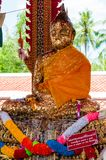 Shrine in buddhist temple at Damnoen Saduak Floating Market, Thailand Royalty Free Stock Photography