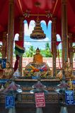 Shrine in buddhist temple at Damnoen Saduak Floating Market, Thailand Stock Images