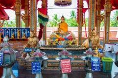Shrine in buddhist temple at Damnoen Saduak Floating Market, Thailand Stock Photography