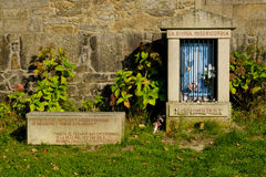 Shrine on the Camino de Santiago, Galicia, Spain Stock Photo
