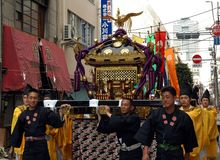 Shrine carriers and palanquin Stock Photos