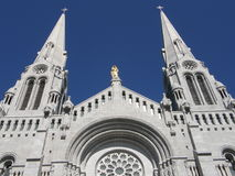 Shrine and Cathedral at Ste Anne de Beaupre. In Quebec, Canada Stock Photos